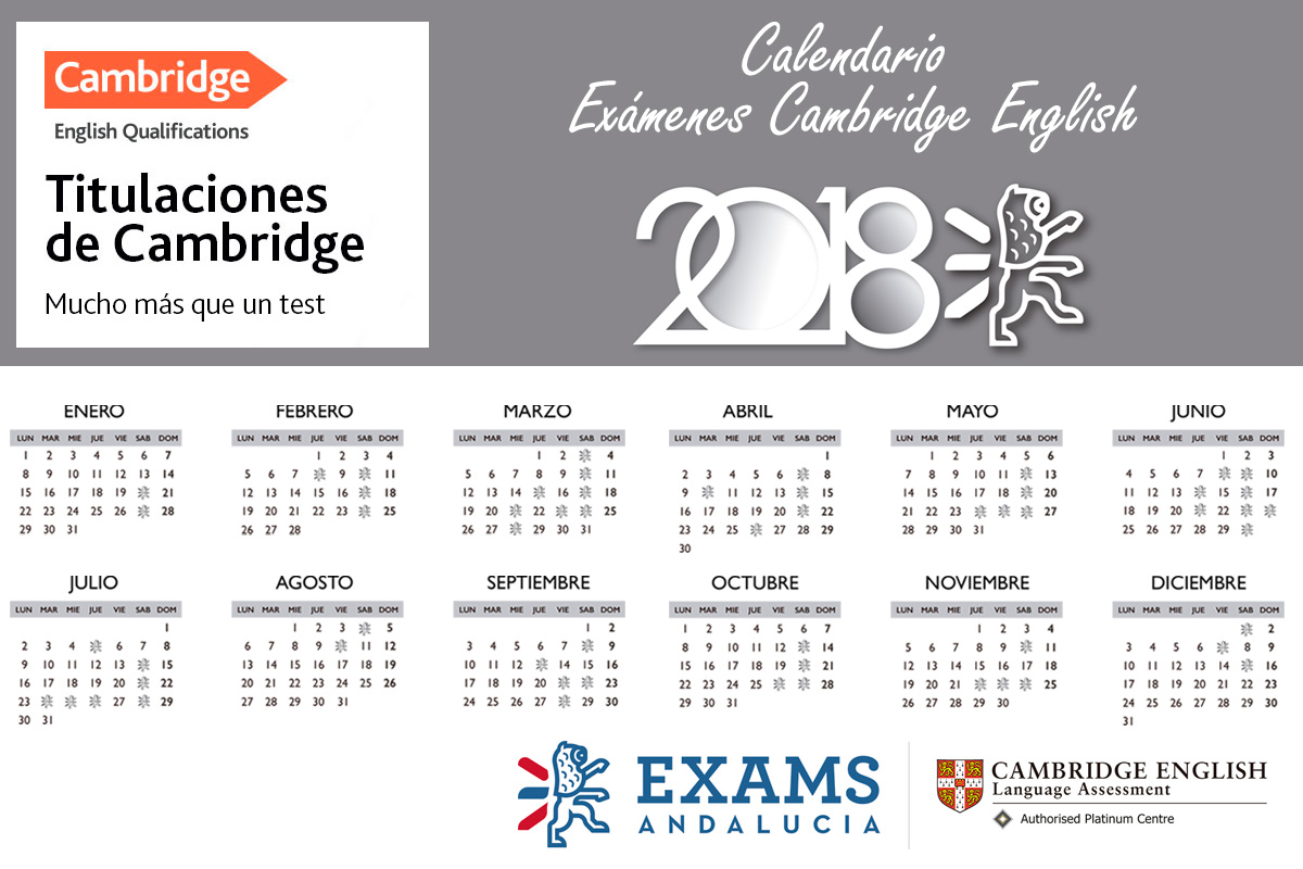 Consulta el calendario de exámenes de Cambridge English 2018 y certifica tu nivel de inglés